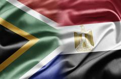 south africa and egypt - stock illustration
