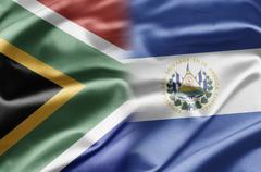 South africa and salvador Stock Illustration