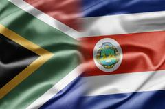 South africa and costa rica Stock Illustration