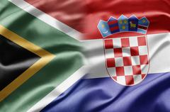 South africa and croatia Stock Illustration