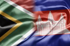 South africa and cambodia Stock Illustration