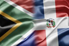 south africa and dominican republic - stock illustration
