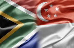 South africa and singapore Stock Illustration