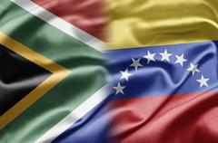 South africa and venezuela Stock Illustration