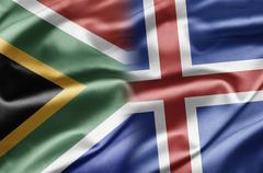 South africa and iceland Stock Illustration