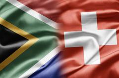South africa and switzerland Stock Illustration