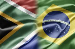 South africa and brazil Stock Illustration