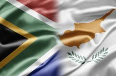 Stock Illustration of south africa and cyprus