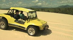 Dune Buggy on the Sand 10 Stock Footage