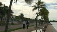 Stock Video Footage of Cienfuegos, Traffic at the Malecón boulevard