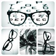 Eyeglasses collage Stock Photos