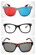 eyeglasses collage - stock photo