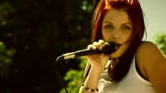 Lead singer - stock footage