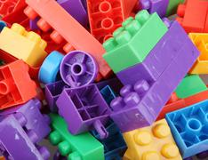 Stock Photo of plastic building blocks