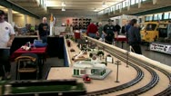 1080p G Scale Train Layout Show Stock Footage