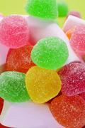 Gumdrops and marshmallows Stock Photos