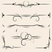Set: design elements and page decoration Stock Illustration