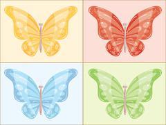 Multi-colored butterfly. vector illustration Stock Illustration