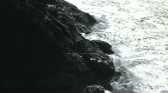 1080p Timelapse Waves Crashing Against the Rocks Heceta Beach Stock Footage