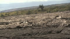 View of Volcanic Landscape In Hawaii Stock Footage