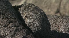 Close Up View Of Volcanic Rock Stock Footage