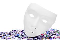 Stock Photo of mask and confetti