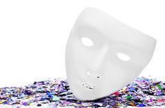 mask and confetti - stock photo