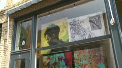 Handcrafted art displays (1 of 2) Stock Footage
