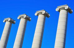 the four columns of puig i cadafalch in barcelona, spain - stock photo