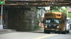 School buses on route (1 of 6) Stock Footage