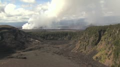 Volcanic Landscape Panorama Stock Footage