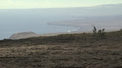 View of the Volcanic Shoreline and Ocean Stock Footage