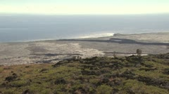 View of the Volcanic Shoreline and Ocean 2 Stock Footage