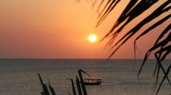 Zanzibar East African Sunset Time Lapse 13sec Stock Footage