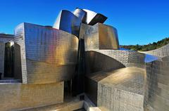 guggenheim museum in bilbao, spain - stock photo