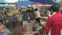 Mexican Vendors Prepare Food To Sell - stock footage