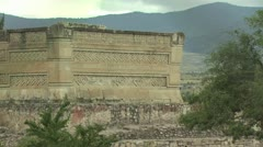 An Ancient Wall In Mexico Stock Footage