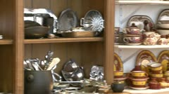 Fine china displays (1 of 1) Stock Footage