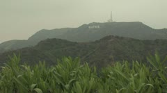 Panoramic View of HOLLYWOOD sign Stock Footage