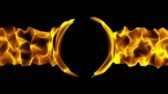 Loopable flaming background Stock Footage