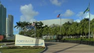 Stock Video Footage of Port of Miami entrance