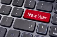 New year message, keyboard pad Stock Illustration