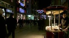 Istiklal Caddesi (Istiklal Street -Istiklal Avenue), Taksim#2 Stock Footage