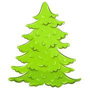 Illustration. lush fir-tree Stock Illustration