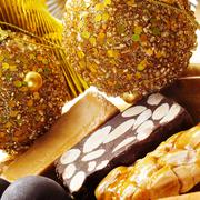 turron, typical spanish christmas sweet - stock photo