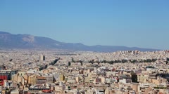 Wide establishing shot of Athens, Greece in bright sunshine. Stock Footage