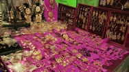 Panoramic View of Gold Jewelry On Display Stock Footage