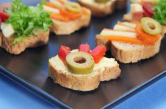 Stock Photo of canapes