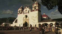 Distant View of a Religious Ceremony in Mexico Stock Footage