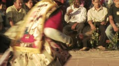 Indigenous Dancers Participate In a Religious Ceremony Stock Footage